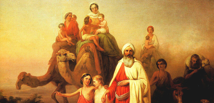 From Abraham's Journey from Ur to Canaan, 1850, by the Hungarian artist József Molnár. Wikiart.