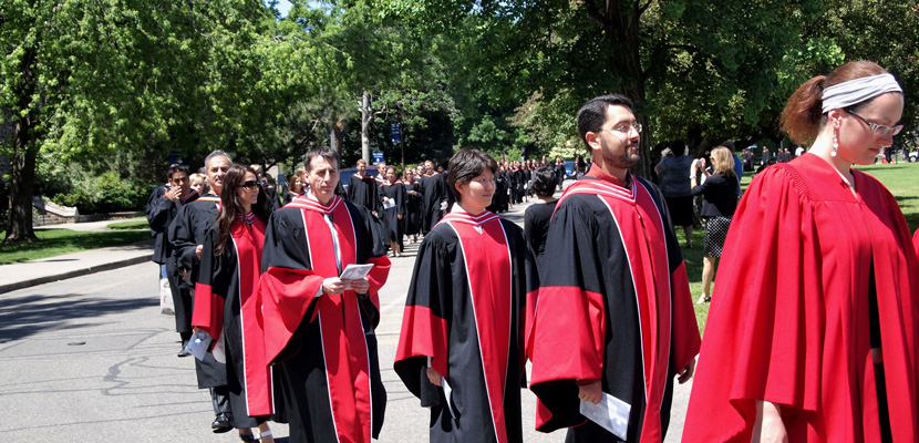 A graduation procession at the University of Toronto. © Sampete | Dreamstime.com.