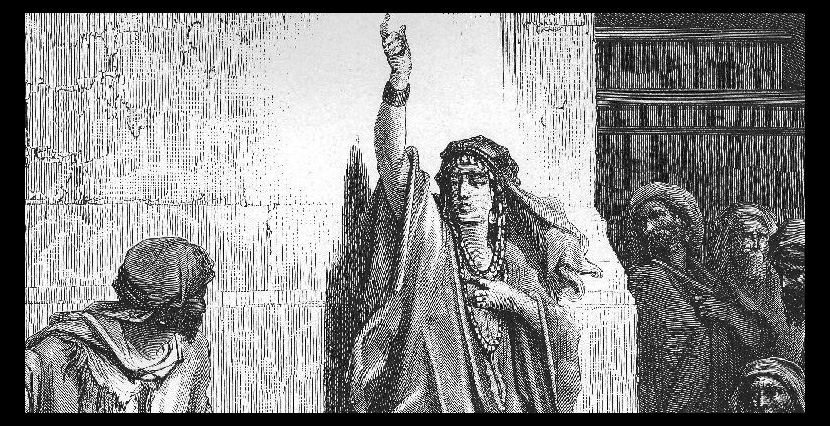 An engraving of Deborah by the French artist Gustave Doré. Wikiart.
