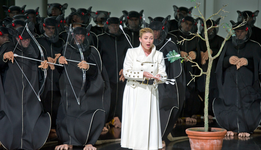Annette Dasch in a 2010 production of Lohengrin in Bayreuth. APN Photo/Eckehard Schulz.