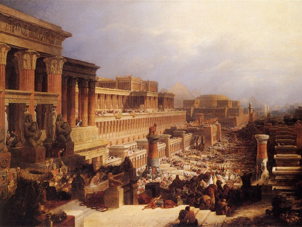 """""""Departure of the Israelites"""", by the Scottish painter David Roberts, 1829. Wikimedia."""