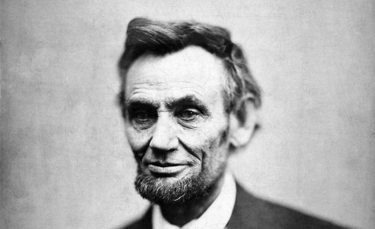 The last posed photograph of Abraham Lincoln, taken ten weeks before his assassination. Alexander Gardner, Wikimedia.
