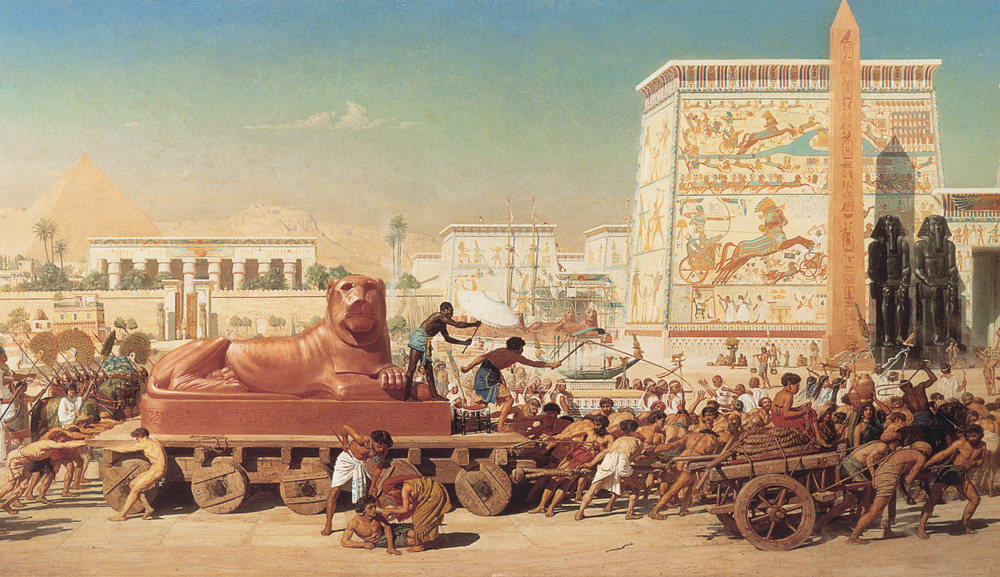 From Israel in Egypt, 1867, by the English painter Edward Poynter. Wikimedia.