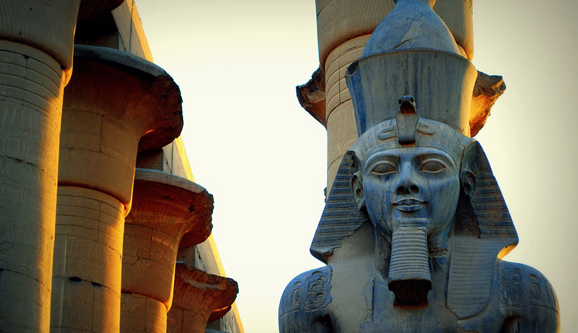 A statue of Ramesses II in Luxor, Egypt. Mohammed Moussa/Wikipedia.