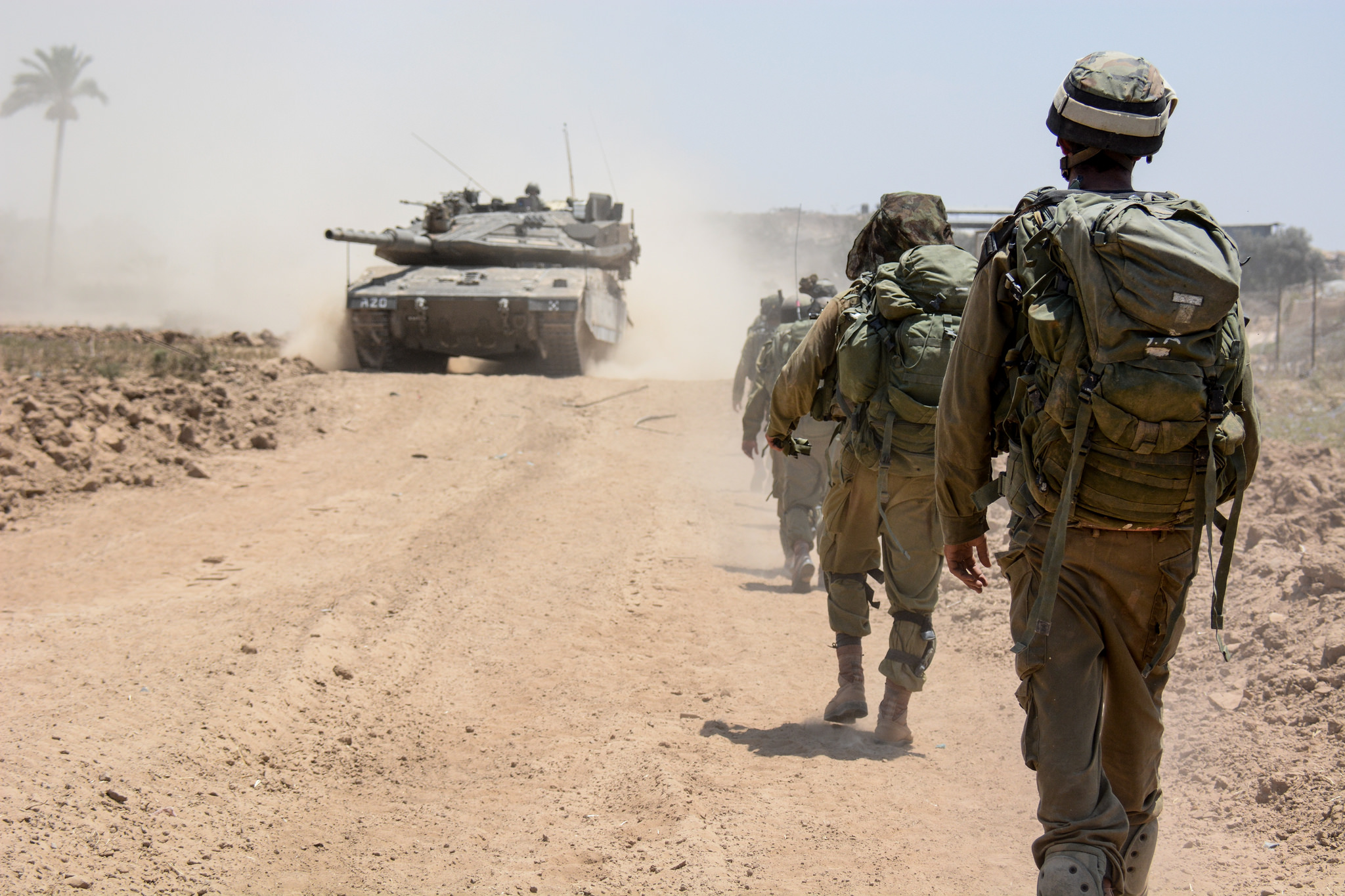 IDF soldiers from the Nahal Brigade operating in Gaza during Operation Protective Edge. IDF/Flickr.