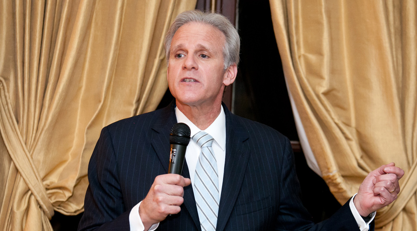 <em>Michael Oren speaking at an Atlantic Council dinner in 2013, while he was still Israel's ambassador to the United States.</em> Atlantic Council/Flickr.