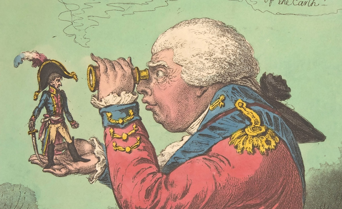 From The King of Brobdingnag and Gulliver by James Gillray. Wikipedia.