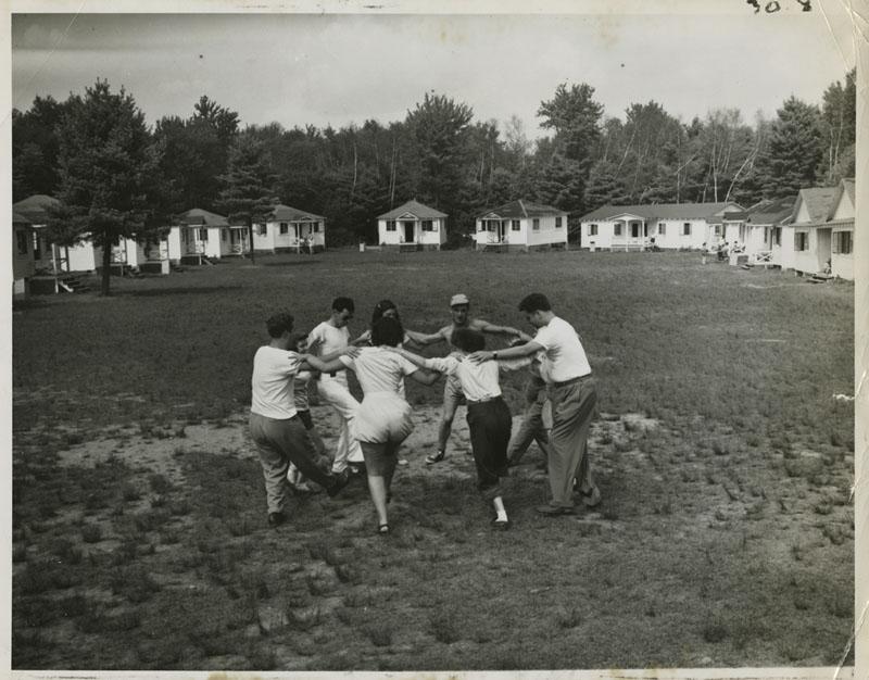 Jewish youth dancing the hora at Camp Wel-Met, October 1948.Heinz H. Weissenstein/Center for Jewish History/Flickr.