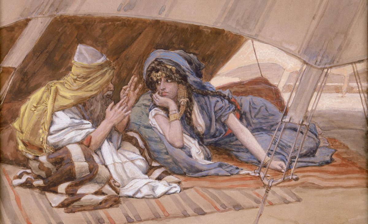 From Abram's Counsel to Sarai, from The Old Testament, c. 1896-1902, by James Tissot. Jewish Museum.