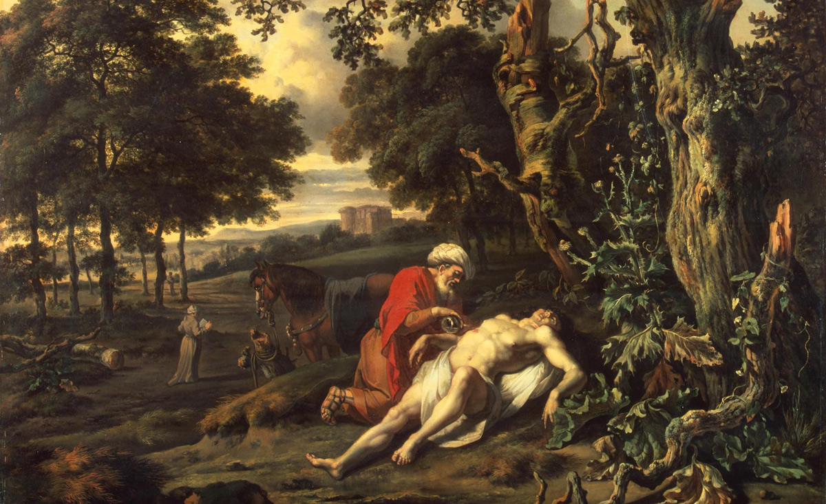 From Parable of the Good Samaritan by Jan Wijnants, 1670. Wikipedia.