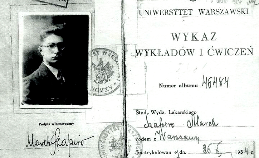 The 1934 identity card of a Polish Jewish student. Wikipedia.