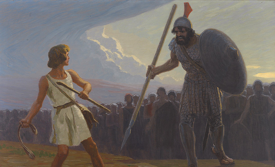 From David against Goliath by Gebhard Fugel. Wikimedia.