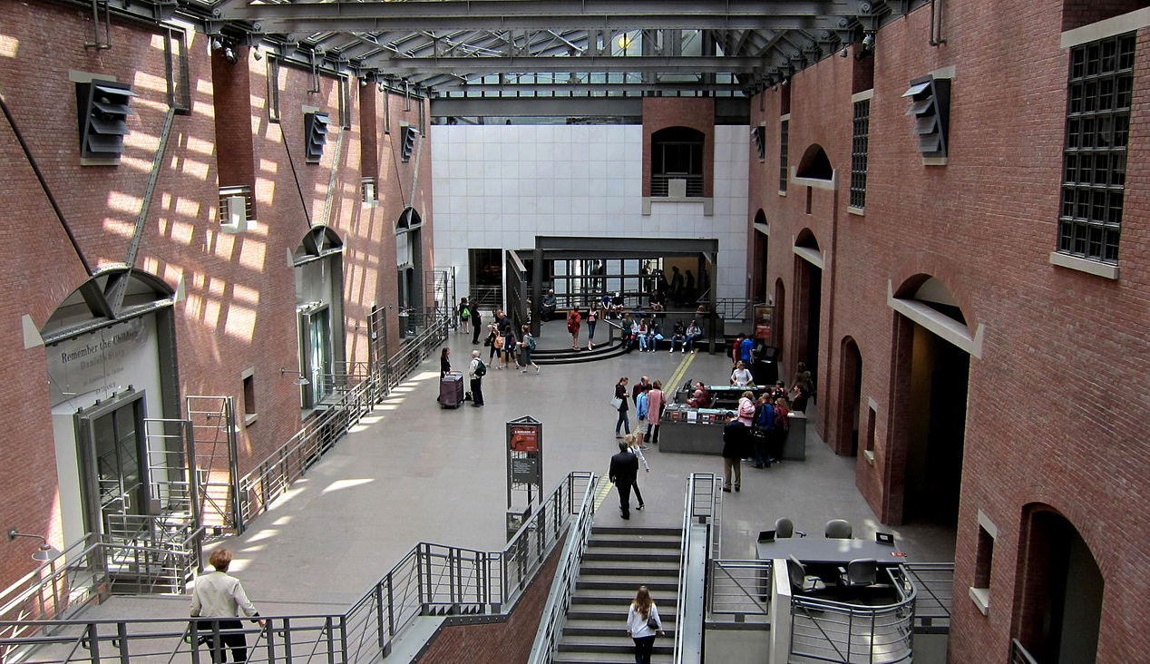 Interior of the United States Holocaust Memorial Museum in Washington, D.C. Wikimedia.