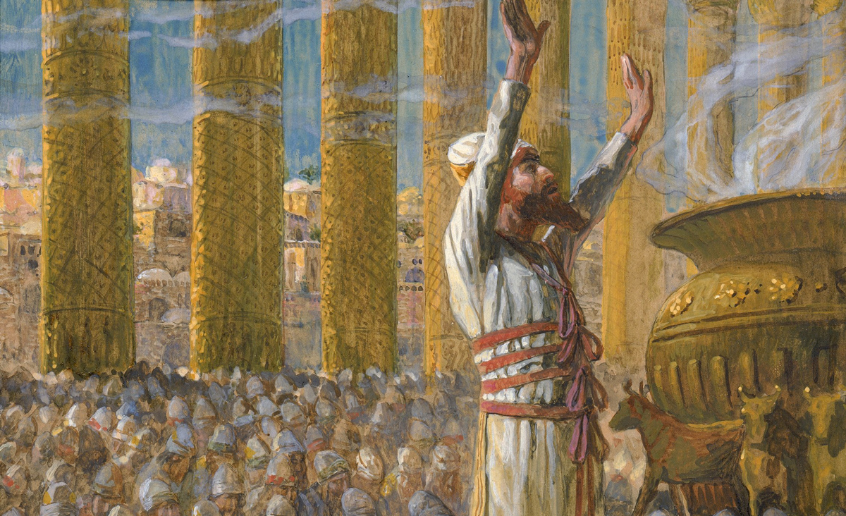 From Solomon Dedicates the Temple at Jerusalem, c. 1896-1902, by James Jacques Joseph Tissot. Jewish Museum.