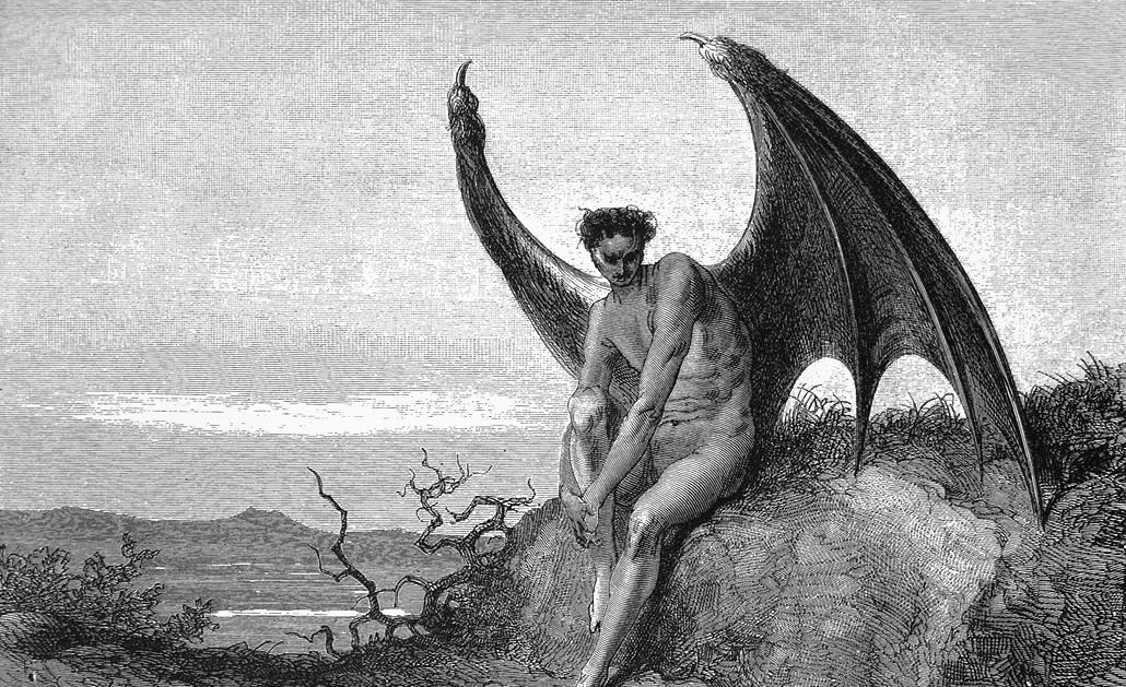 An illustration of Lucifer by Gustave Doré. Wikimedia.