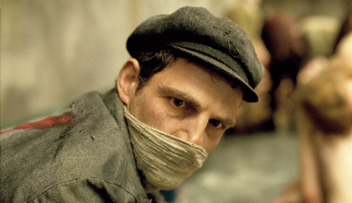 Geza Rohrig as Saul Auslander in Son of Saul. Sony Pictures Classics.