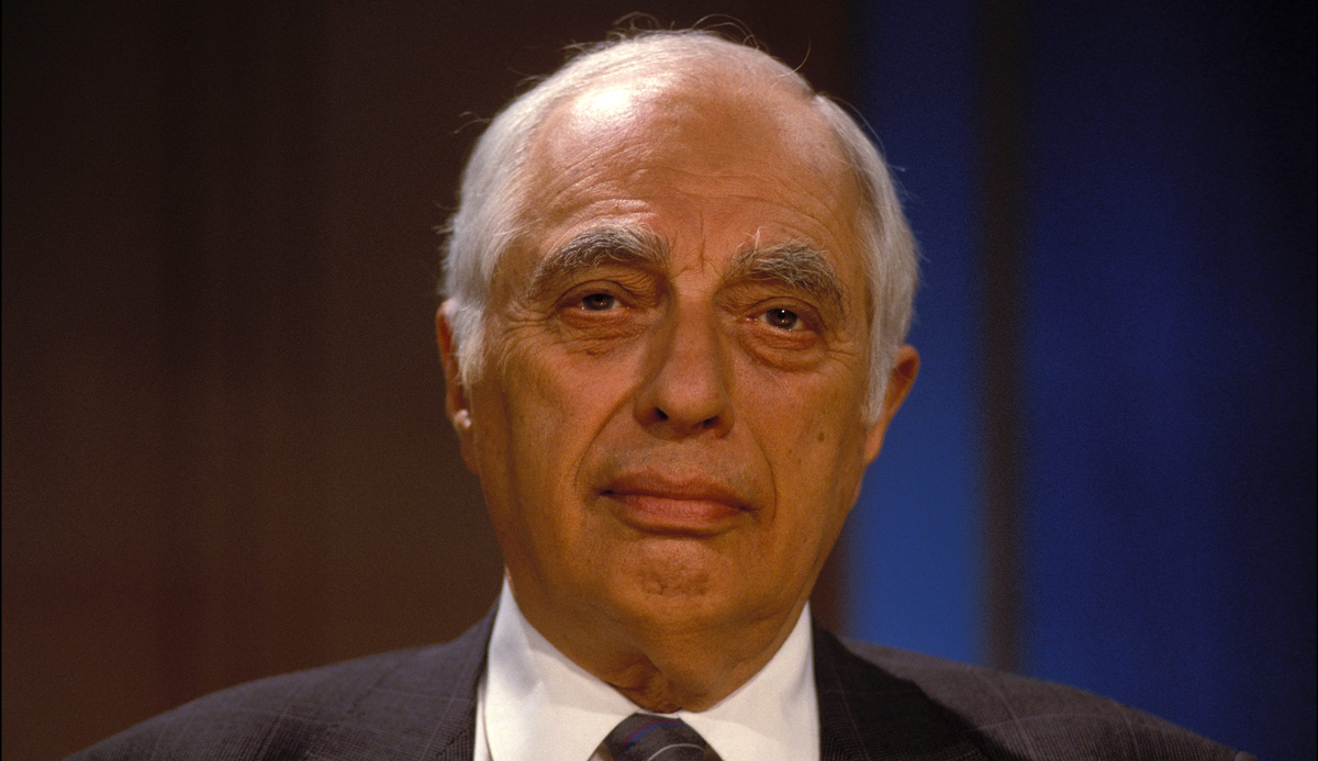 Bernard Lewis on French television in 1990. Frederic REGLAIN/Gamma-Rapho via Getty Images.