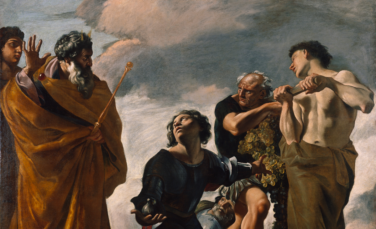 From Moses and the Messengers from Canaan by Giovanni Lanfranco, c. 1624. Getty Museum.