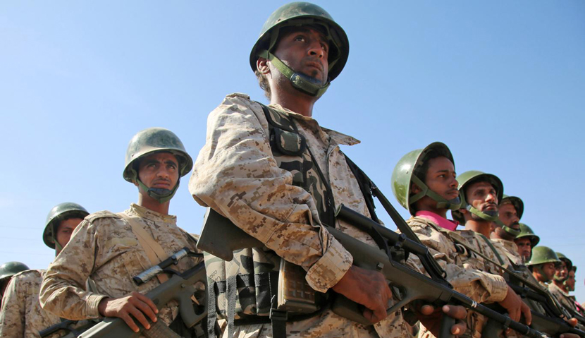 Saudi-backed Yemenite troops, December 12, 2015. Abdullah al-Qadry/AFP/Getty Images.