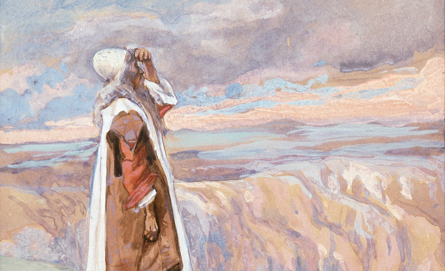 From Moses Sees the Promised Land From Afar, c. 1896-1902, by James Tissot. Jewish Museum.