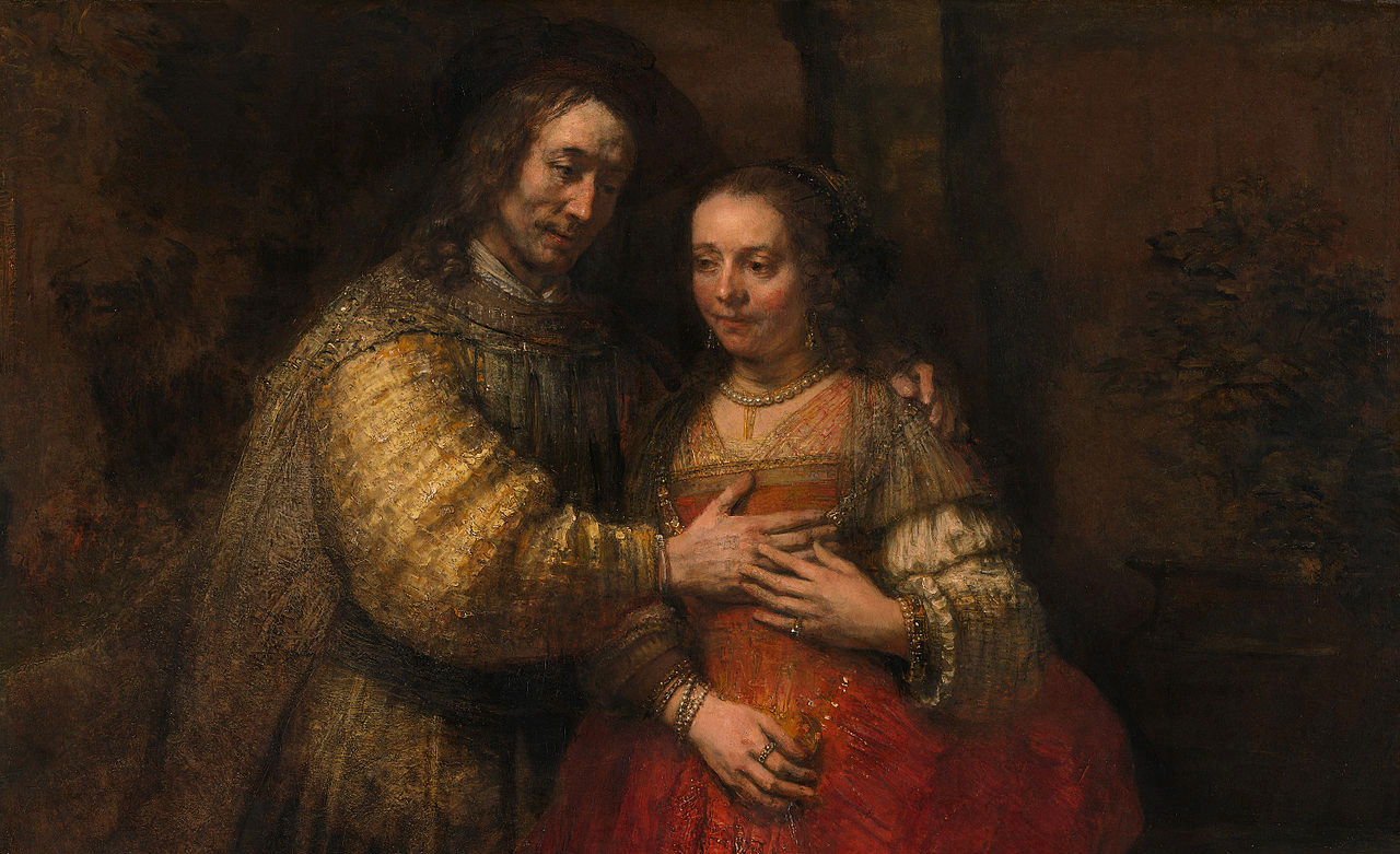 Rembrandt's The Jewish Bride, 1667. Wikimedia.