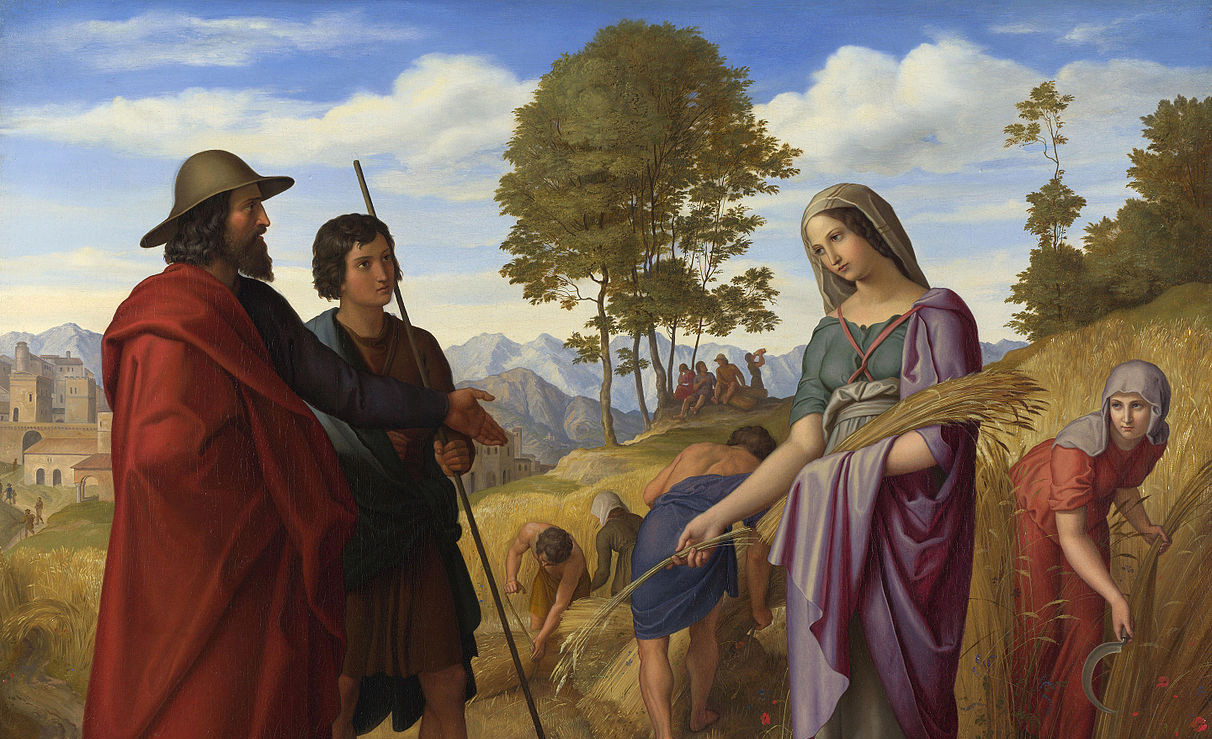 From Ruth in Boaz's Field, by Julius Schnorr von Carolsfeld, 1828. Wikimedia.
