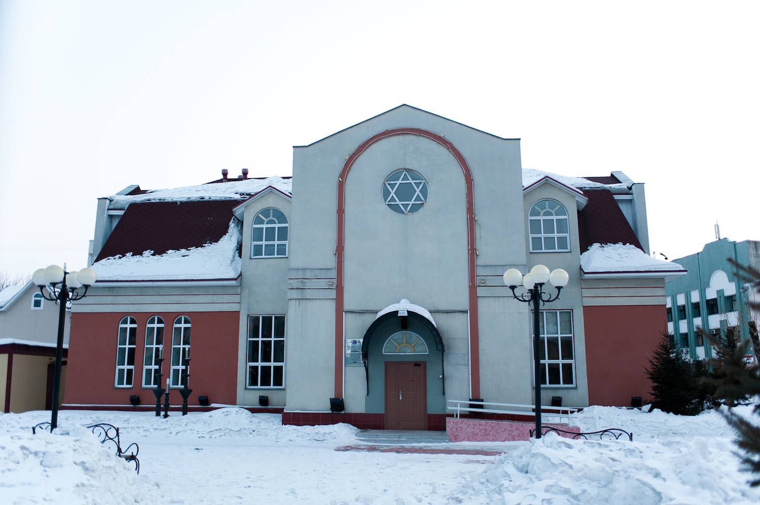 A synagogue in Birobidjan City, Russia. ANNA YEROSHENKO/AFP/Getty Images.