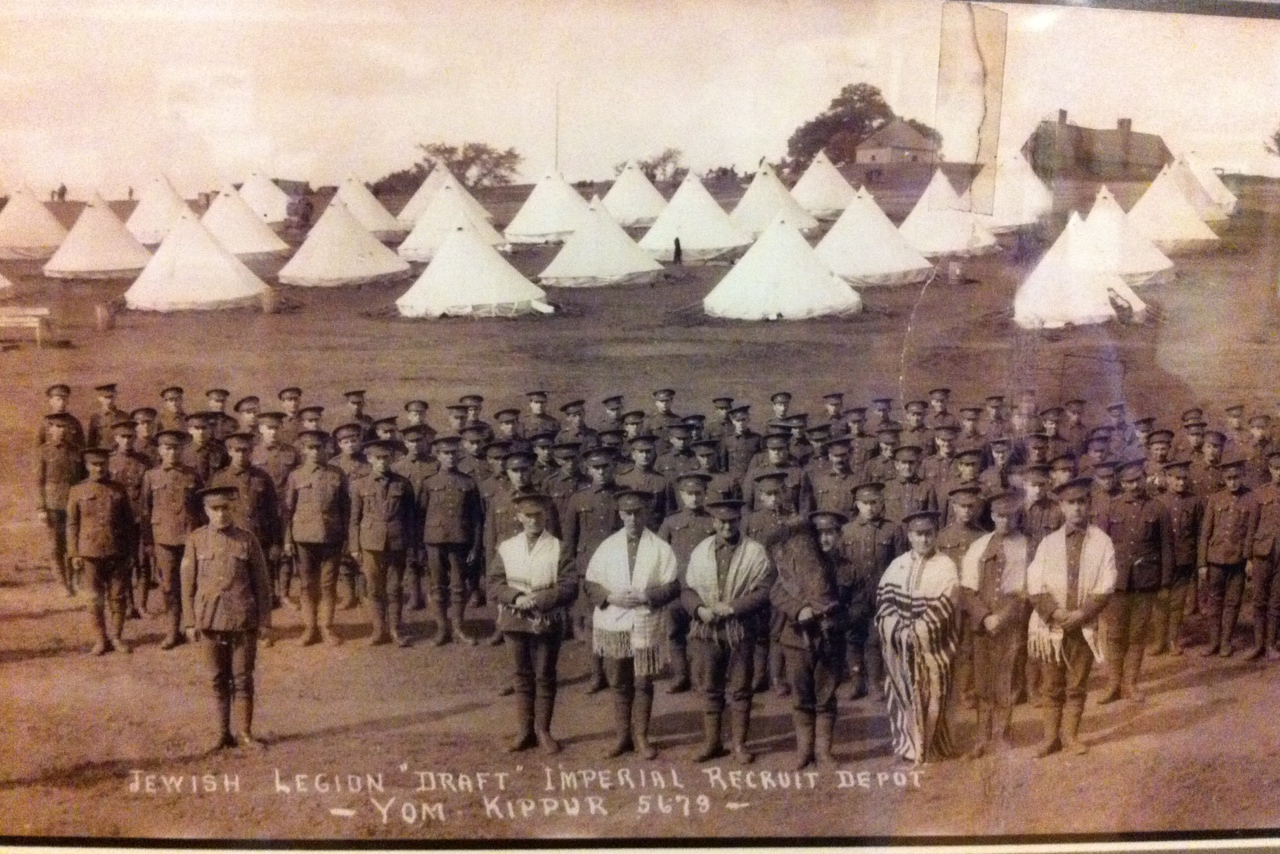 The 39th Battalion of the Jewish Legion at Fort Edward in 1918. Wikipedia.