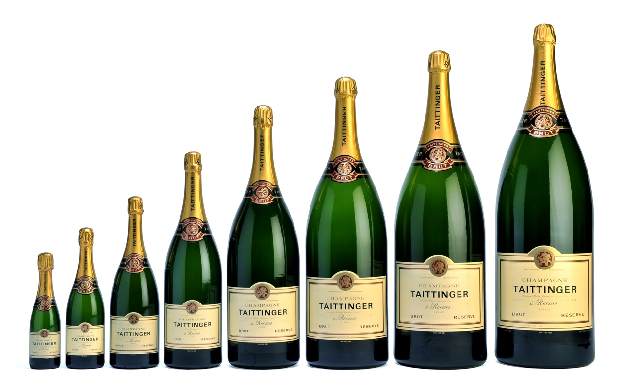 Bottles of Taittinger champagne. Madison Wine Exchange.