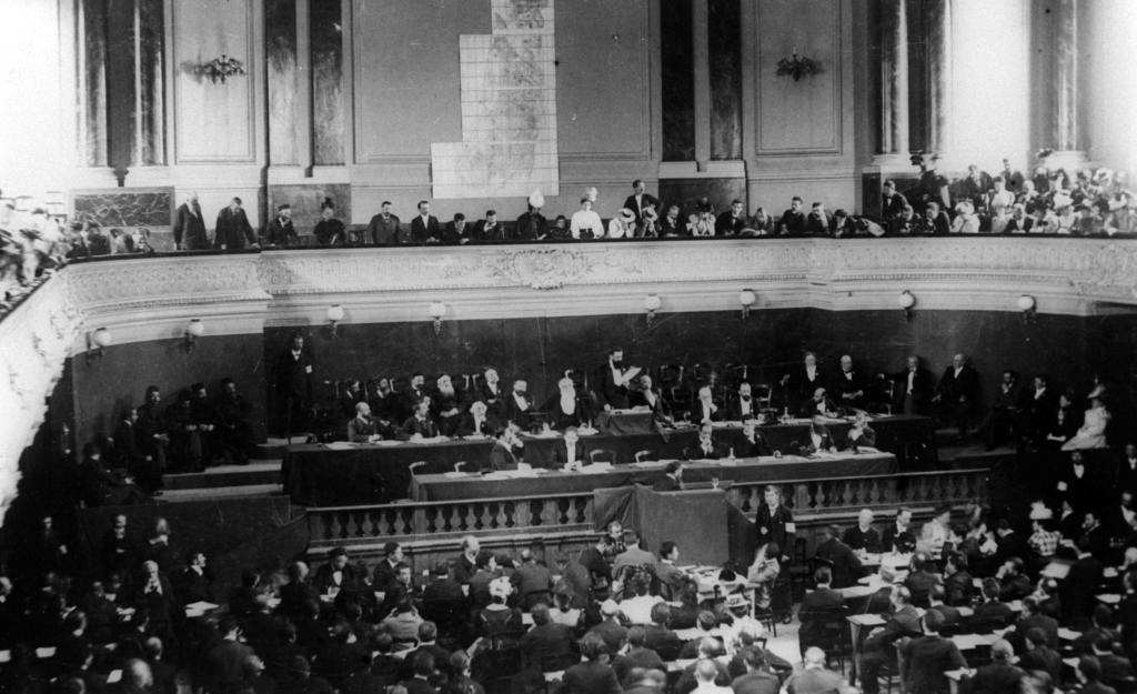 The First Zionist Congress, held in Basel, Switzerland in 1897.