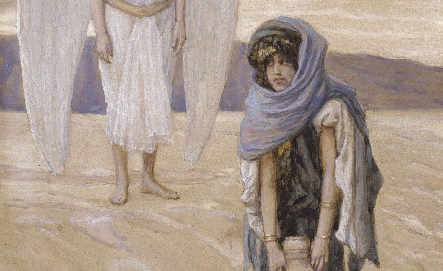 From Hagar and the Angel in the Desert by James Tissot. Jewish Museum.