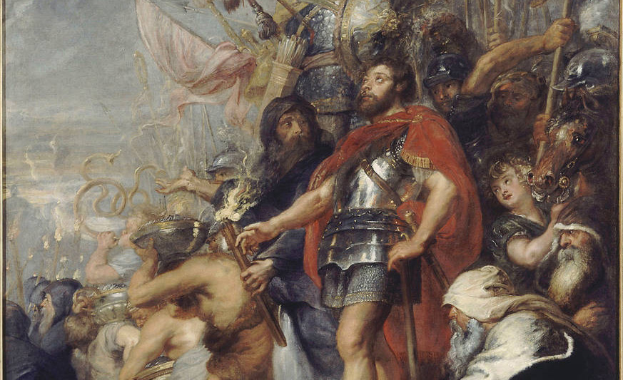 From The Triumph of Judas Maccabeus by Peter Paul Rubens, 1635.