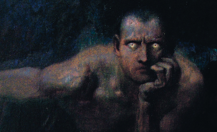 From Lucifer by Franz Stuck, 1890.