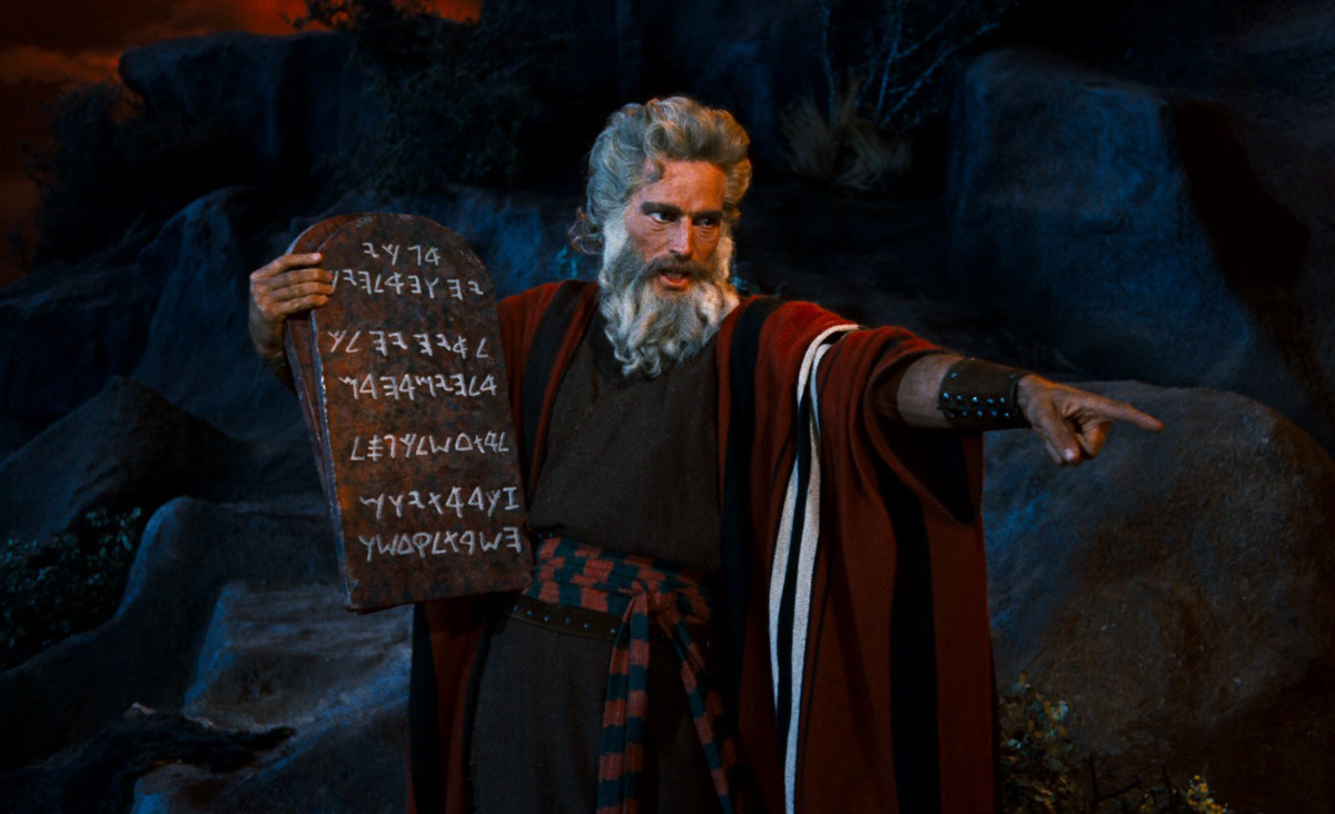 Charlton Heston in The Ten Commandments, 1956.