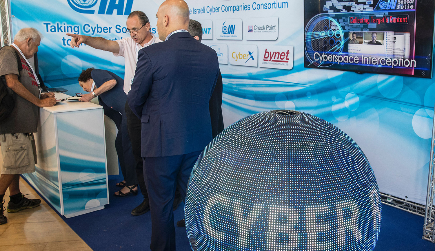 The 6th Annual International Cybersecurity Conference at Tel Aviv University on June 20, 2016. JACK GUEZ/AFP/Getty Images.