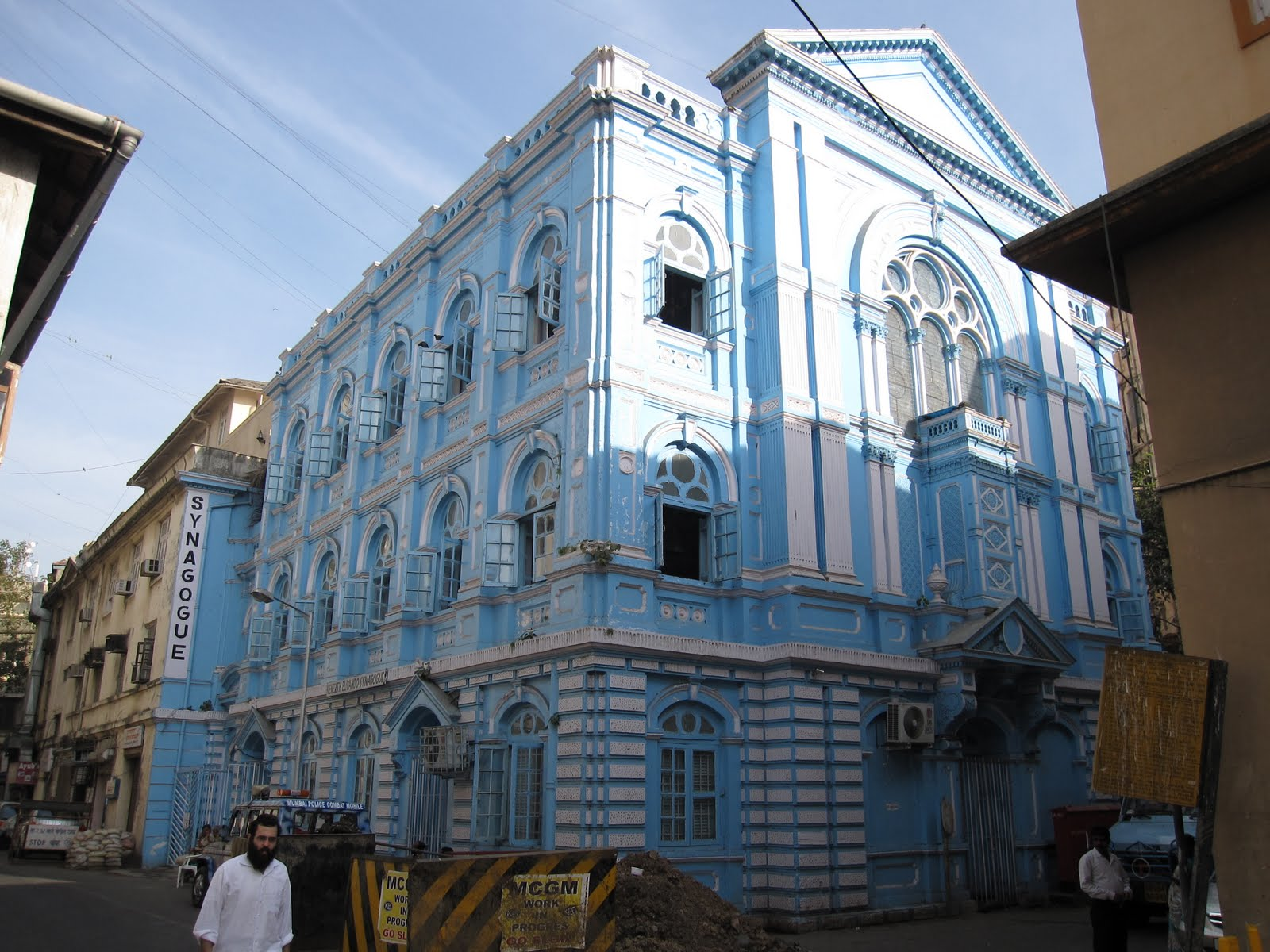The Keneseth Eliyahoo Synagogue in Mumbai, India. flickr/Stefan Krasowski.