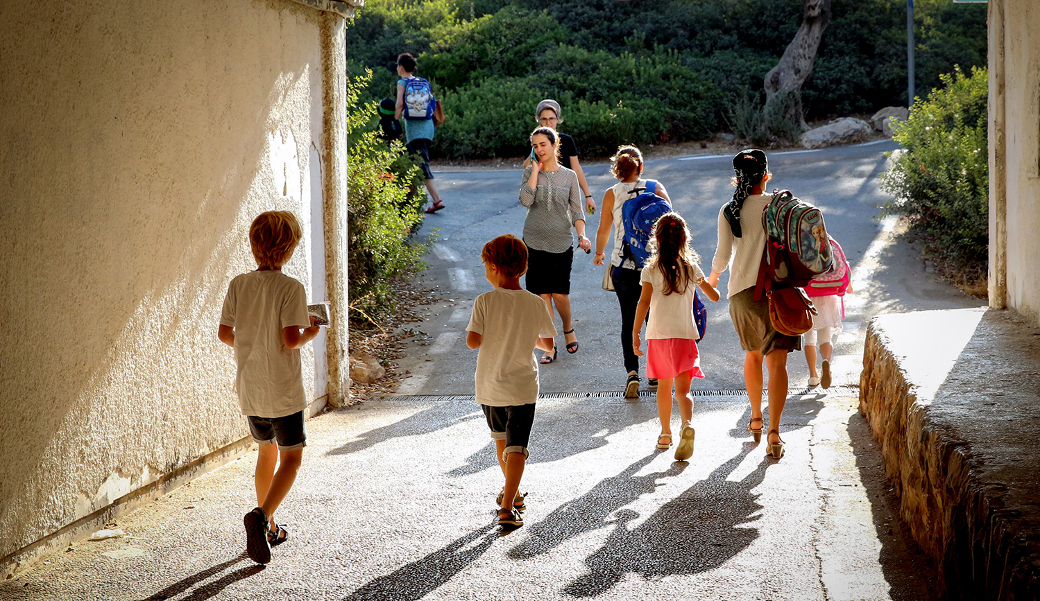 Children on the first day of school in Jerusalem, September 1, 2017. Yossi Zamir/Flash90.