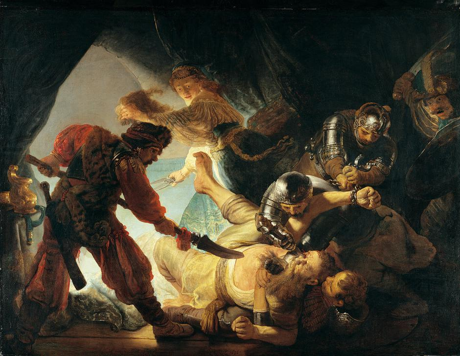 Rembrandt's The Blinding of Samson, 1636. Wikipedia.