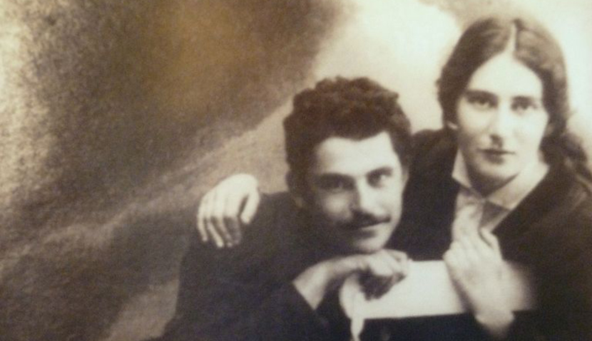 Rahel with her friend Avraham Cahanowitz ca. 1925. National Library of Israel.