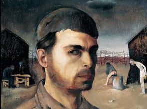 Detail from Felix Nussbaum's Self-Portrait in the Camp. Wikimedia.