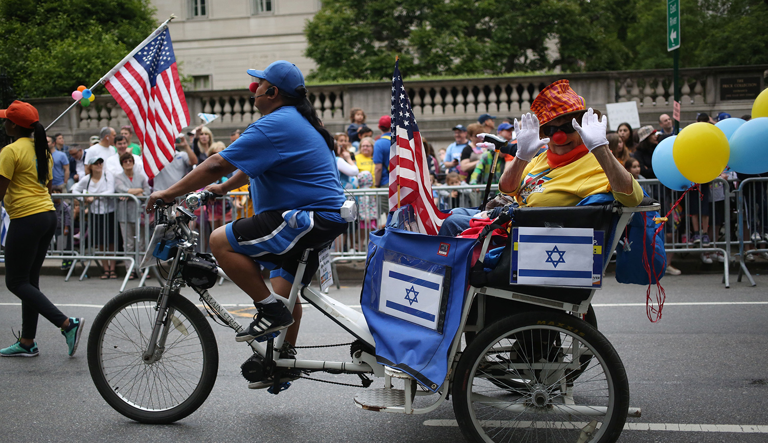 The Celebrate Israel parade on 5th Avenue in Manhattan on June 4, 2017. Mohammed Elshamy/Anadolu Agency/Getty Images.