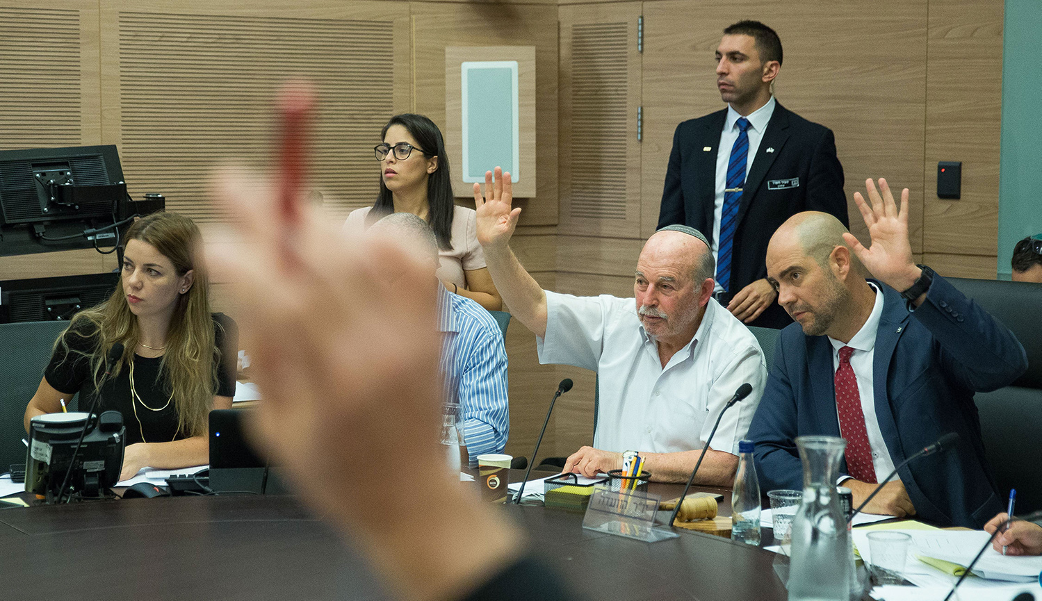 "Israeli MKs discussing the ""Nation State"" bill at the Knesset on July 17, 2018. Yonatan Sindel/Flash90."