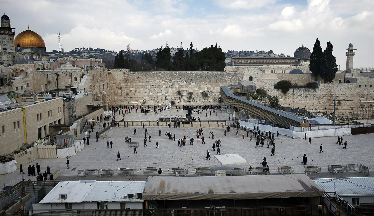 The Western Wall in 2016. THOMAS COEX/AFP/Getty Images.