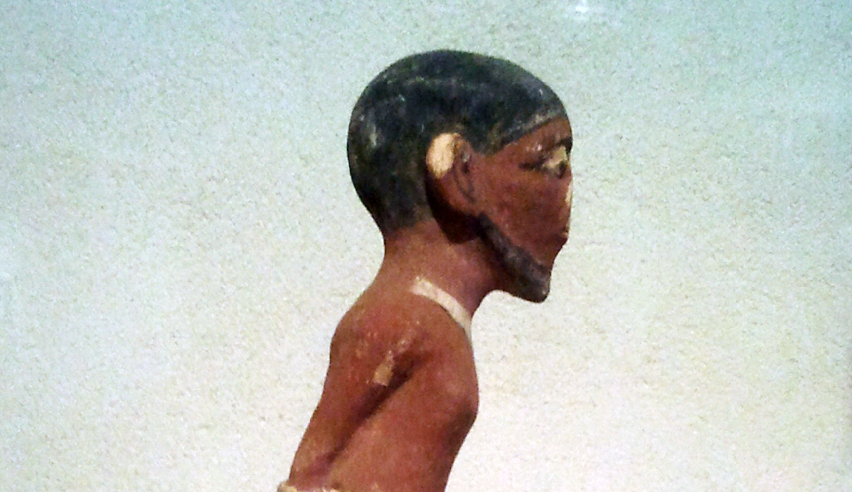 An ancient Egyptian figurine of a Semitic slave. Wikipedia.