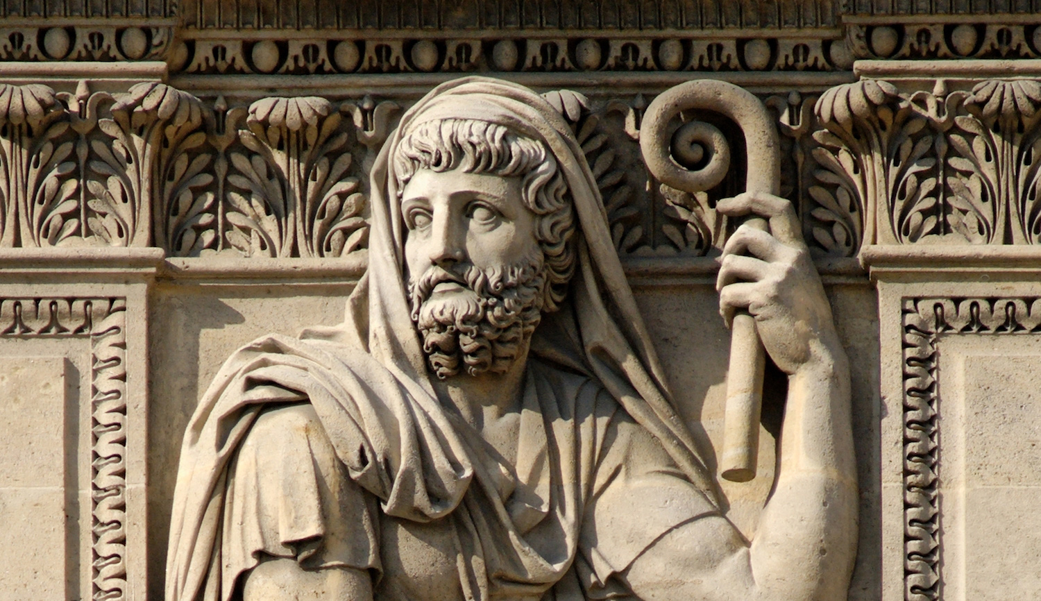 An 1806 relief of the Greek historian Herodotus by Jean-Guillaume Moitte currently in the Louvre, Paris. Wikipedia.