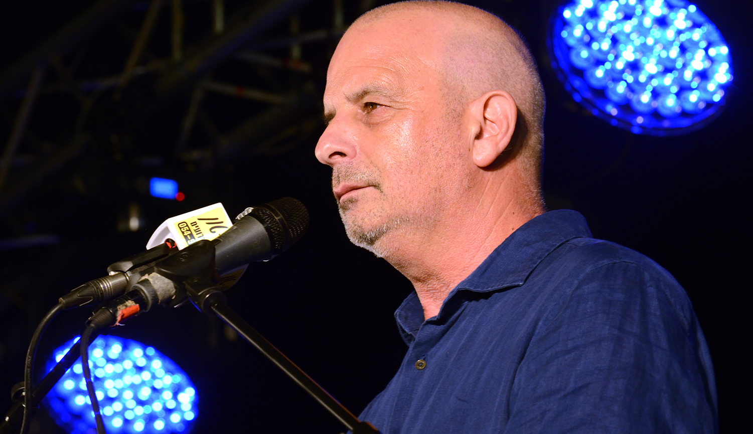 Yuval Diskin, the former director of the Shin Bet, giving a speech against the new nation-state law. Gili Yaari/NurPhoto via Getty Images.