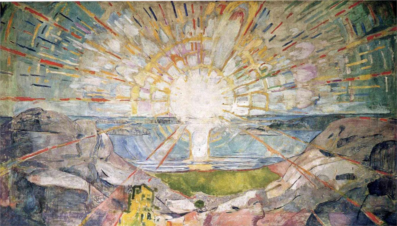 From The Sun by Edvard Munch, 1909. Wikipedia.