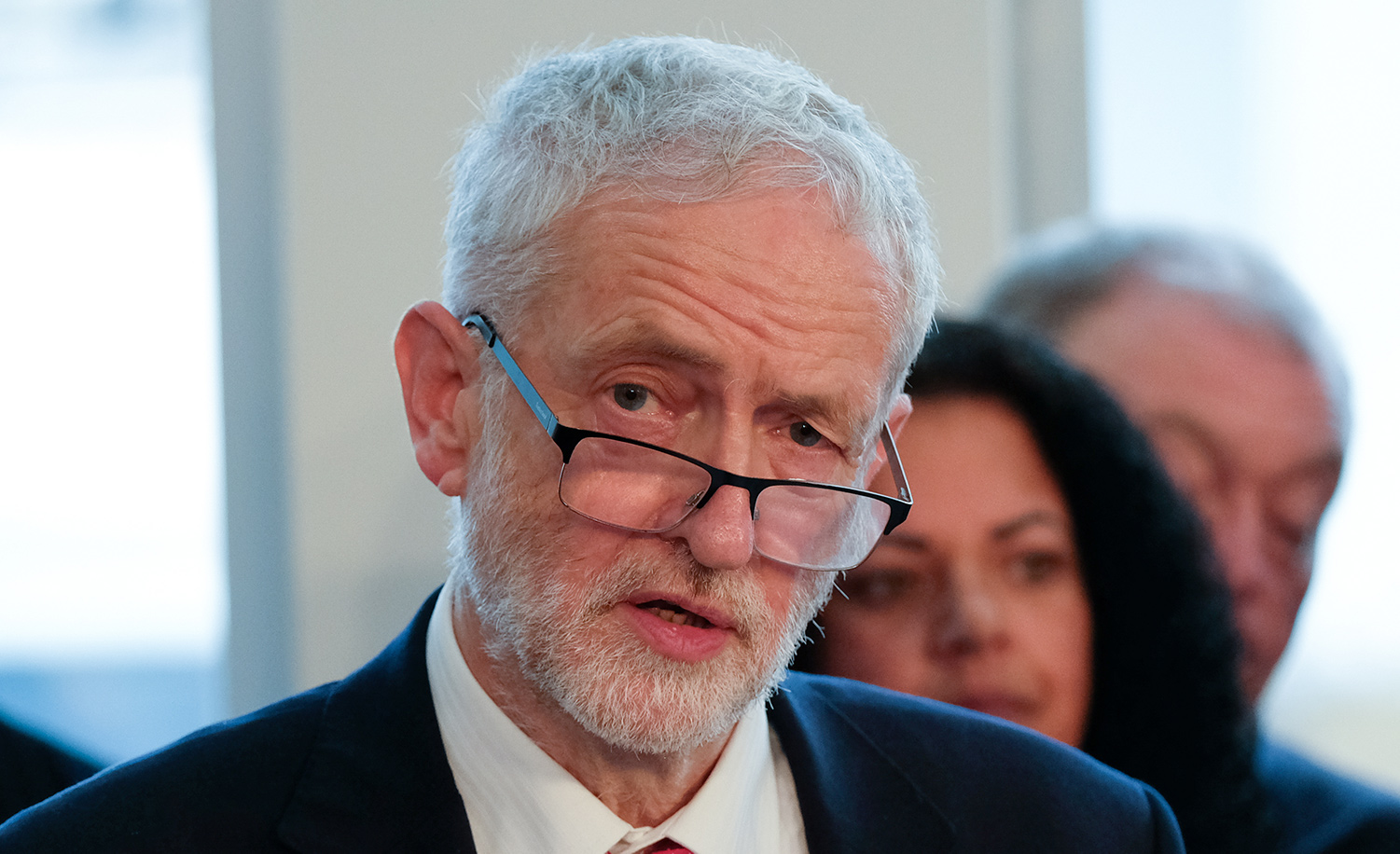 British Labor leader Jeremy Corbyn on January 10, 2019 in Wakefield, England. Ian Forsyth/Getty Images.