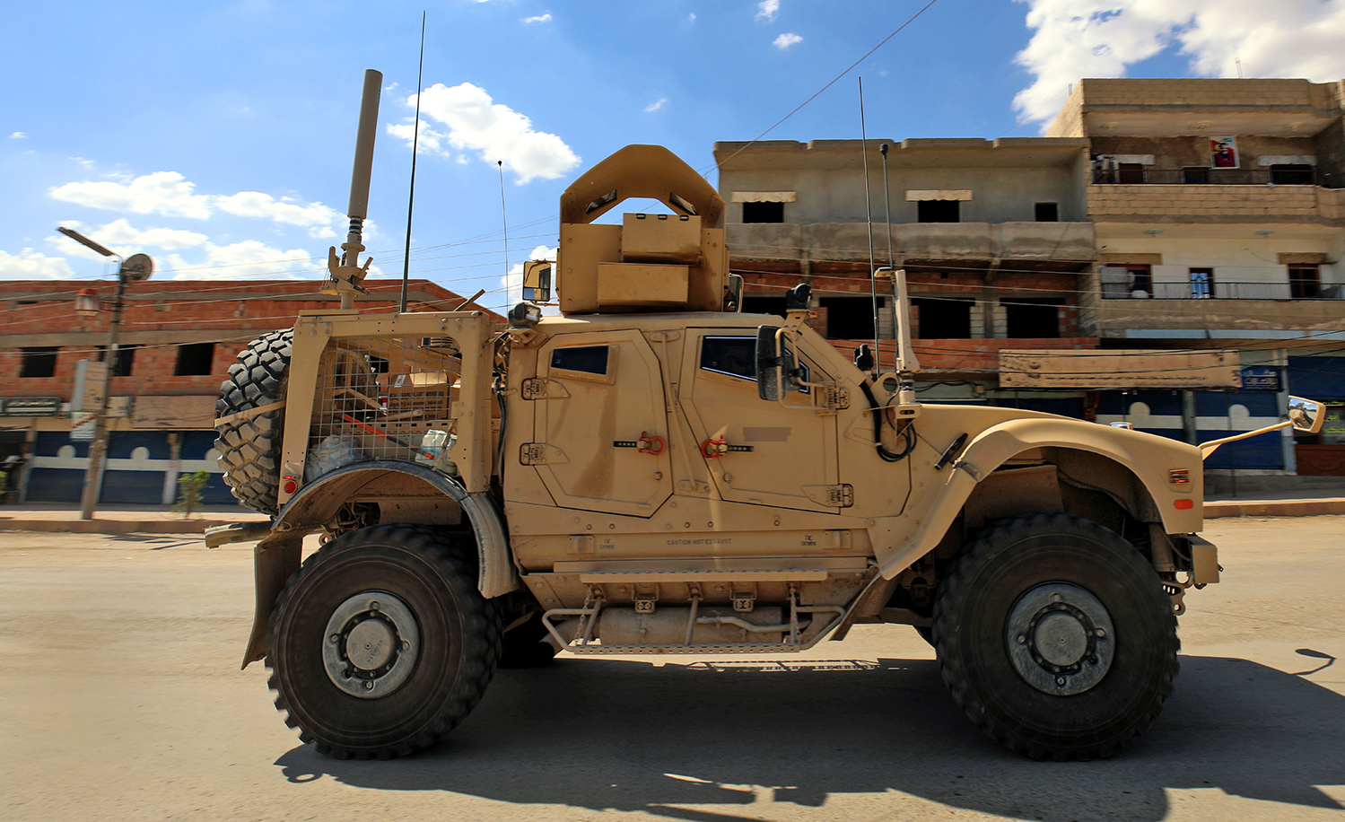 An armored vehicle in Syria. DELIL SOULEIMAN/AFP/Getty Images.