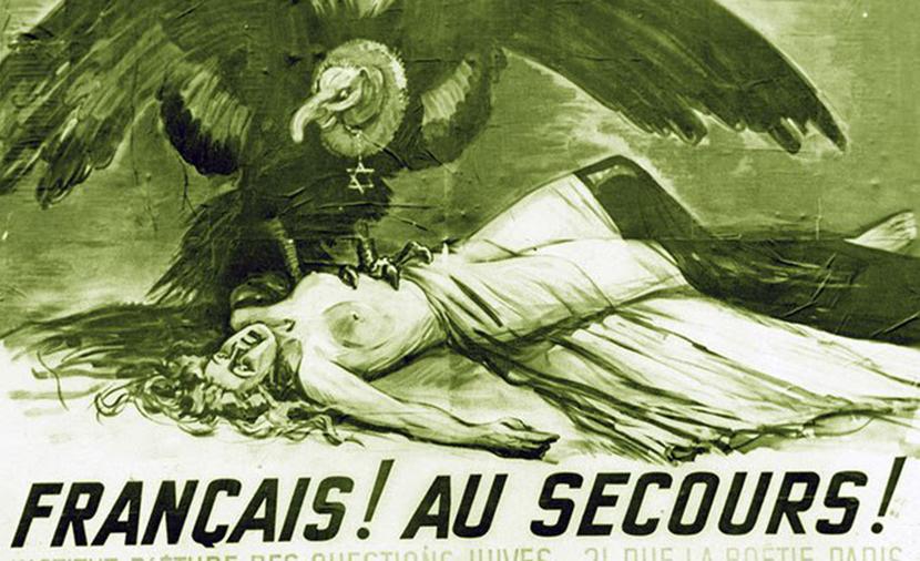 A French anti-Semitic propaganda poster.Sueddeutsche Zeitung Photo/Alamy.